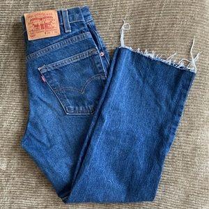 Levi's Vintage 517 Cropped Dark Wash Jeans